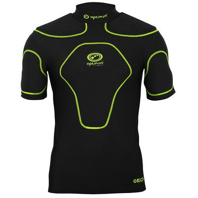 Optimum Origin Rugby Body Protection Shoulder Pads Black/Fluro