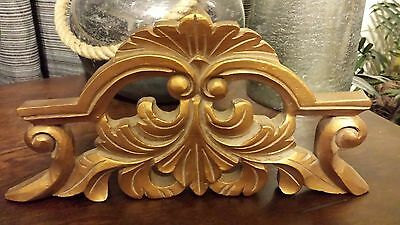 Victorian Style Picture Topper - Gold Leaf Finish - 5 3/4in X 11in