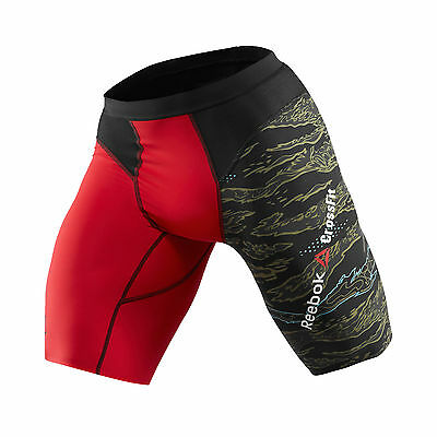 Reebok Crossfit Mens Control II Compression Training Fitness Short