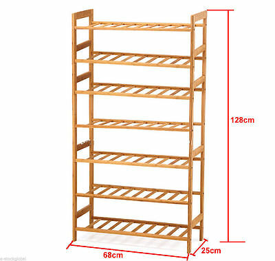 discounted untill 10 sold -100% Bamboo 7Tier Shoe Rack n Storage Organiser STAND
