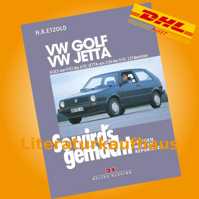 vw golf 2 benz reparaturanleitung so wirds gemacht etzold reparaturbuch handbuch eur 24 90. Black Bedroom Furniture Sets. Home Design Ideas