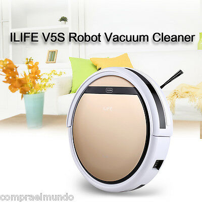 ILIFE V5S Smart Robot Vacuum Floor Cleaning Automatic Microfiber Dry/Wet Cleaner