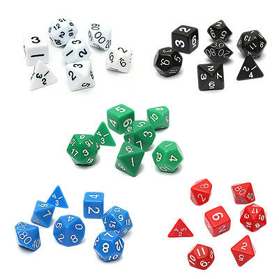 Set 7PCS Dice Dice Die D4~D20 for Games Dungeons & Dragons RPG Dragons BF
