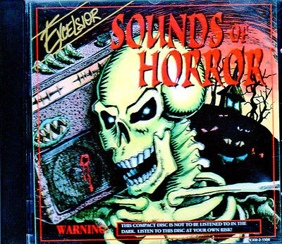 EXCELSIOR SOUNDS OF HORROR: RARE 1994 CLASSIC HALLOWEEN SOUND EFFECTS &  MUSIC CD