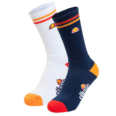 Ellesse Campatelli Mens Sports Fitness Training Socks (2 Pack)