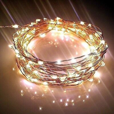 LED Copper String Battery Powered Warm White Fairy Lights for Christmas 3/5/10M