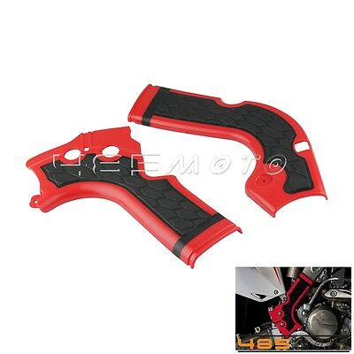 New Motorcycle X-Grip X Bike Frame Guard Protectors For Honda CRF 250/450R - Red