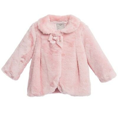 Mayoral Baby Faux Fur Pink Jacket Coat 24 Months