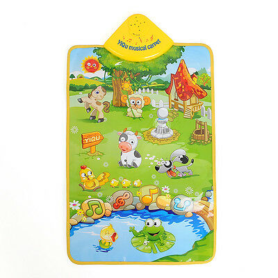 Music Sound Singing Farm Animal Kids Baby Play Playing Mat Carpet Playmat Gym