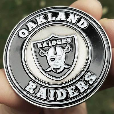 PREMIUM NFL Oakland Raiders Poker Chip Card Protector Metal Coin Golf Marker