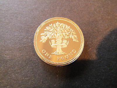 1987 Royal Mint English Oak £1 One Pound Proof Coin - Mint Condition