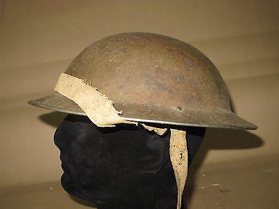 WW2 British 1940's Dated mkII Brodie Helmet MK2 Liner 7 1/2 1942 Original Color