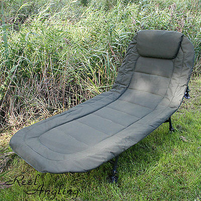 Carp Fishing Deluxe Bedchair Coarse Pike 6 Leg Recliner  Pillow Bed Chair Ngt