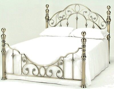 Lavish Florence Brass Finish Bed Frame In Double & King With Matching Bedsides