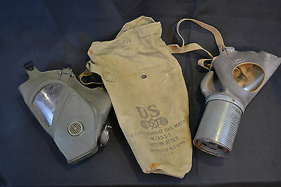 Wwii And Post Wwii Us Gas Masks Set Of 2 Usa Made