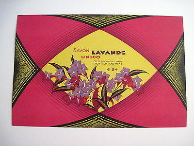 Vintage Art Deco French Perfumed Soap Label In a Stunning Shape - Bold Colors *