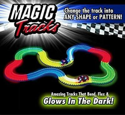 Magic Tracks With Cars & Race Racing Play Set Toy Glow in the Dark LH