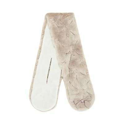 Baker By Ted Baker Kids Girls' Taupe Faux Fur Bow Applique Scarf From Debenhams