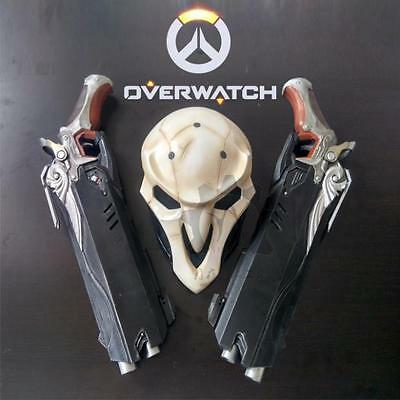 1:1 Mens Overwatch Reaper Double Guns Mask Cosplay Cos Props Weapon Gun OW Gift