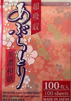 OIL CONTROL BLOTTING PAPER Facial Skin Care 100 SHEETS Made in Japan NEW