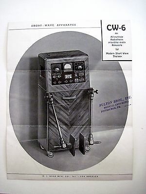 """1930's """"Short Wave Apparatus"""" Pamphlet - Medical Quackery Device *"""