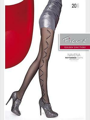 Fiore NAVENA 20 Den Pantyhose Tights Hosiery Nylons Size [S]