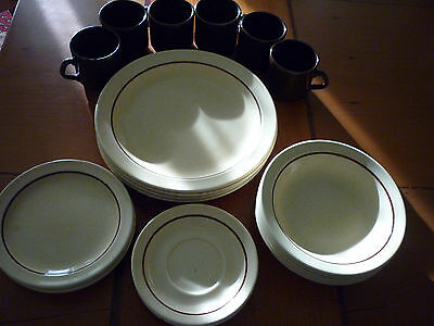 Vintage 22 Piece 'Sunsand The Hostess Collection' Dinner Set Made in New Zealand