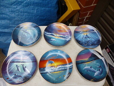 Franklin Mint complete 6 Dolphins  Collector's Plate - Limited Edition