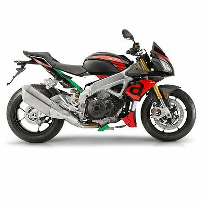 Aprilia Tuono V4 1100  Italian flag flat side & belly pan graphics decals set