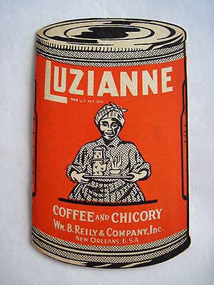 "Great Vintage Black Americana Advertising Needle Book for ""Luzianna Coffee"" *"