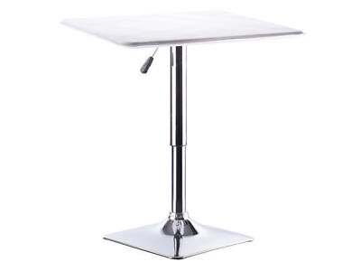 1 square bar table gas lift white patio man cave adjustable heights