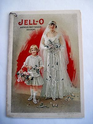 Lovely 1916 Jell-O Booklet w/ Bride and Flower Girl on Cover *