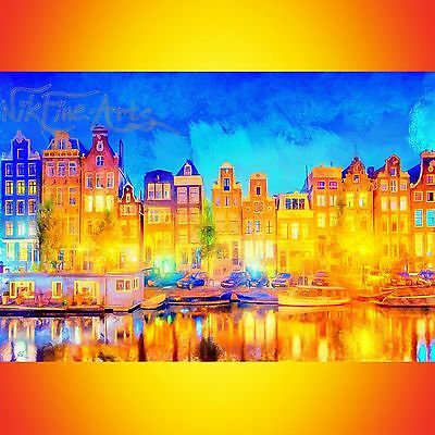 Nik Tod Original Painting Large Signed Art Nikfinearts Textured Colors Amsterdam