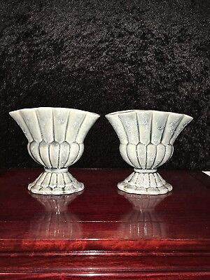 Art Deco Shorter and Sons Stylised thistle Vases. (Pair)