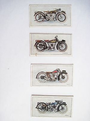 "Very Rare Set of ""W.D. & H.O. Wills Cigarettes ""Motorcycle Advertising Cards"" *"