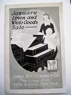 "Vintage 1919 Ad Booklet for ""James McCutcheon & Co. ""The Linen Store""  Corsets *"