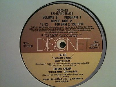 Falco - The sound of Musik 12'' Disconet Remix