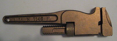 "New Ampco Safety Tools  8"" Non Sparking Monkey Wrench W-1145  New & Mint Cond"