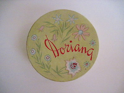 "Vintage Art Deco Era ""Dorianna"" Face Powder Box w/ Powder In Yellow Container *"