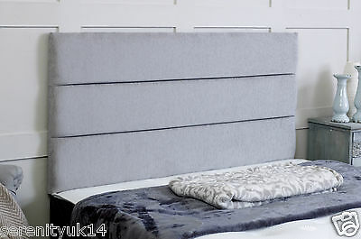 Quality Eton **chenille  Headboard**  All Sizes & Various Colours Available