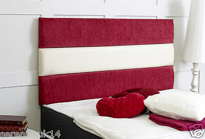 Chestershire Red Luxurious 2 Tone Headboard All Sizes Available Best On Ebay