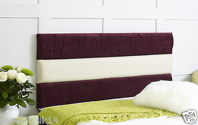 Chestershire 2 Tone Headboard All Sizes Available Free P & P Choose Own Colours!