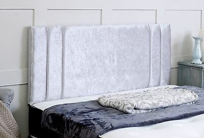Rio **crushed Velvet**  Headboard Choose Your Colour & Size Free Postage