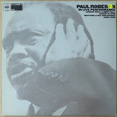 LP Paul Robeson - In Live Performance - Soul, Gospel - UK - VG++ to Near Mint