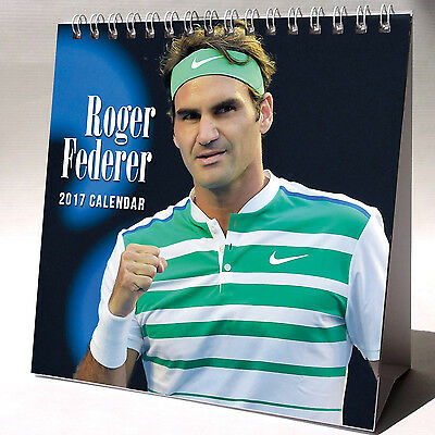 Roger Federer Desktop Calendar 2017 NEW Tennis Player Champion Swiss
