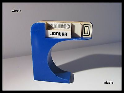 Perpetual Desk Type Calendar / Retro / Space Age / Vintage 1970's ( German )