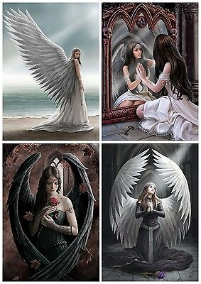 New Anne Stokes Fantasy Gothic Artwork Angel Blank Birthday Greeting Card