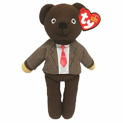 Ty Mr Bean Teddy - Soft Plush Toy 10 Inch (26Cm) Jacket And Tie - Bnwt
