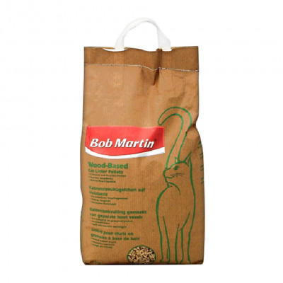 20L Bob Martin Wood Based Cat Litter Pellets ( 4 X 5 Litre Bags )