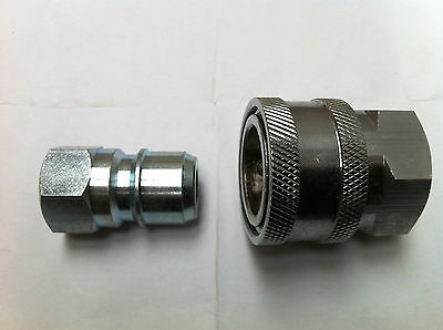 Maxi Male And Female Quick Release Couplings Set 3/8 Bsp Fixed Female Threads